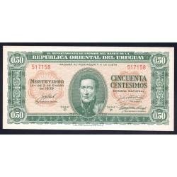 Уругвай 50 сантимов 1939 г. (URUGUAY 50 Centésimos 1939) P34:Unc