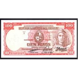 Уругвай 100 песо 1939 г. (URUGUAY 100 Pesos 1939) P39с:Unc