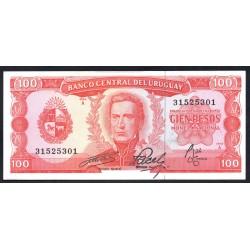 Уругвай 100 песо ND (1967 г.) (URUGUAY 100 Pesos ND (1967)) P47:Unc