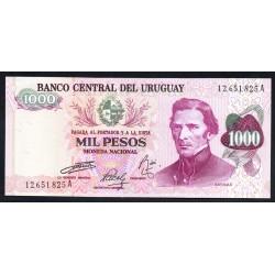 Уругвай 1000 песо ND (1974 г.) (URUGUAY 1000 Pesos ND (1974)) P52:Unc