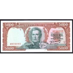 Уругвай 5000 песо ND (1967 г.) (URUGUAY 5000 Pesos ND (1967)) P50:Unc