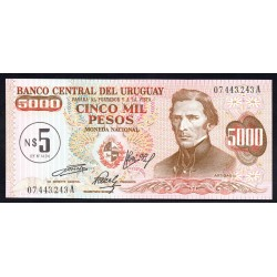 Уругвай 5 песо ND (1975 г.) (URUGUAY 5 Nuevos Pesos ND (1975)) P57:Unc