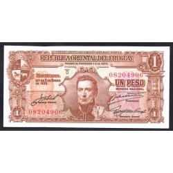 Уругвай 1 песо 1939 г. (URUGUAY 1 Peso 1939) P35с:Unc