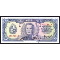 Уругвай 50 песо ND (1967 г.) (URUGUAY 50 Pesos ND (1967)) P46а:Unc