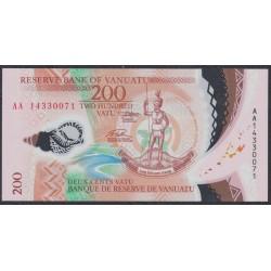 Вануату 200 вату 2014 год, полимер, серия АА (Vanuatu 200 Vatu 2014, Polymer) P 12: UNC