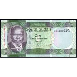 Южный Судан 1 фунт ND (2011 г.) (South Sudan 1 pounds ND (2011 g.)) P5:Unc