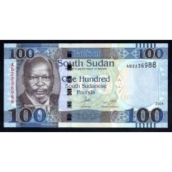 Южный Судан 100 фунтов 2015 г. (South Sudan 100 pounds 2015 g.) P15а:Unc