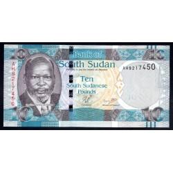 Южный Судан 10 фунтов ND (2011 г.) (South Sudan 10 pounds ND (2011 g.)) P7:Unc