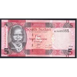 Южный Судан 5 фунтов 2015 г. (South Sudan 5 pounds 2015 g.) P11:Unc