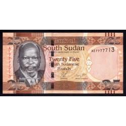 Южный Судан 25 фунтов ND (2011 г.) (South Sudan 25 pounds ND (2011 g.)) P8:Unc
