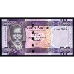 Южный Судан 50 фунтов ND (2011 г.) (South Sudan 50 pounds ND (2011 g.)) P9:Unc