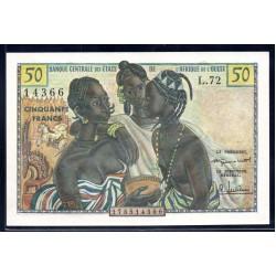 Западная Африка 50 франков ND (BANQUE CENTRALE DES ETATS DE L'AFRIQUE DE L'OUEST 50 francs ND) P1:Unc