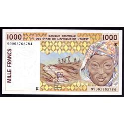 Западные Африканские Государства (Сенегал) 1000 франков 1998 г. (BANQUE CENTRALE DES ETATS DE L'AFRIQUE DE L'OUEST (Senegal) 1000 francs 1998 g.) P711Kh:Unc