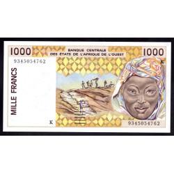 Западные Африканские Государства (Сенегал) 1000 франков 1992 г. (BANQUE CENTRALE DES ETATS DE L'AFRIQUE DE L'OUEST (Senegal) 1000 francs 1992 g.) P711Kb:Unc