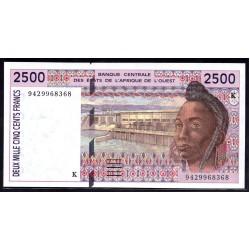 Западные Африканские Государства (Сенегал) 2500 франков 1994 г. (BANQUE CENTRALE DES ETATS DE L'AFRIQUE DE L'OUEST (Senegal) 2500 francs 1994 g.) P712Kс:Unc
