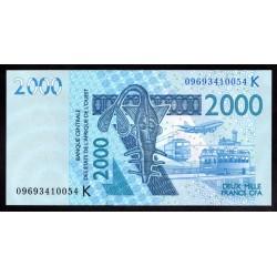 Западные Африканские Государства (Сенегал) 2000 франков 2003 г. (BANQUE CENTRALE DES ETATS DE L'AFRIQUE DE L'OUEST (Senegal) 2000 francs 2003 g.) P716Kа:Unc