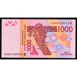 Западные Африканские Государства (Сенегал) 1000 франков 2003 г. (BANQUE CENTRALE DES ETATS DE L'AFRIQUE DE L'OUEST (Senegal) 1000 francs 2003 g.) P715Kа:Unc