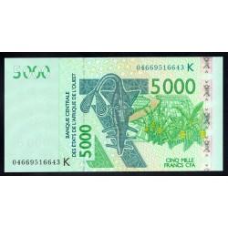 Западные Африканские Государства (Сенегал) 5000 франков 2003 г. (BANQUE CENTRALE DES ETATS DE L'AFRIQUE DE L'OUEST (Senegal) 5000 francs 2003 g.) P717K:Unc