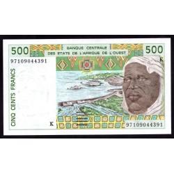 Западные Африканские Государства (Сенегал) 500 франков 1997 г. (BANQUE CENTRALE DES ETATS DE L'AFRIQUE DE L'OUEST (Senegal) 500 francs 1997 g.) P710Kh:Unc