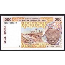 Западные Африканские Государства (Сенегал) 1000 франков 1999 г. (BANQUE CENTRALE DES ETATS DE L'AFRIQUE DE L'OUEST (Senegal) 1000 francs 1999 g.) P711Ki:Unc