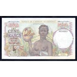 Французская Западная Африка 100 франков 1950 г. (BANQUE DE L'AFRIQUE OCCIDENTALE  100 francs 1950 g.) Р40:Unc