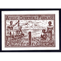 Французская Западная Африка 1 франк ND (BANQUE DE L'AFRIQUE OCCIDENTALE  1 franc ND) Р34a:Unc